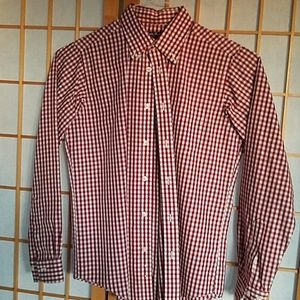 Brooks Brothers boys red checkered dress shirt